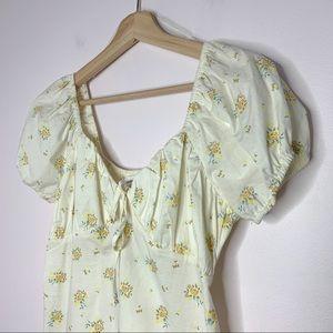 Eyeshadow Cotton Floral Summer Puff Sleeve Dress